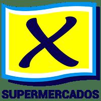 Logomarca do X Supermercados.